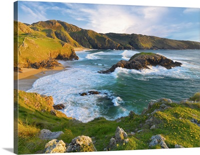 Ireland, County Donegal, Rosguil, Boyeeghter Bay overview