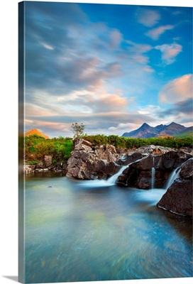 Isle of Skye, Scotland, Sunset taken in Sligachan, at the bottom of the Black Cuillins