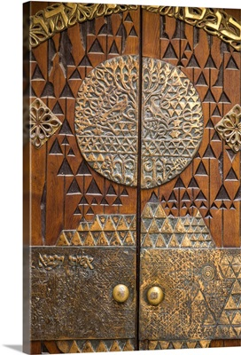 Israel, Jerusalem, Jewish Quarter, Synagogue door
