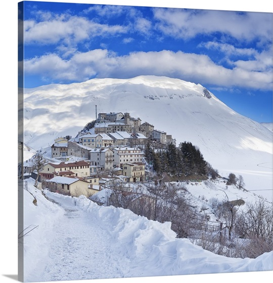 Winter Wall Art italy, monti sibillini national park, norcia, castelluccio di