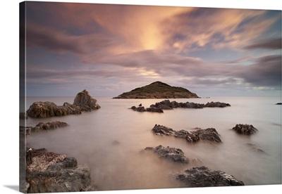 Italy, Sardinia, Teulada,The small island of Campionna
