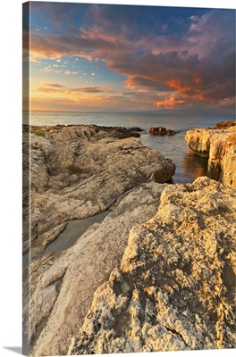 Italy, Sicily, Brucoli Cliff