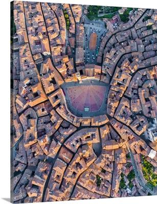 Italy, Tuscany, Siena, Piazza Del Campo And City Centre
