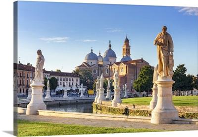 Italy, Veneto, Padova, Prato della Valle and Santa Giustina Basilica