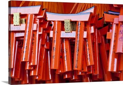 Japan, Kyoto, Fushimi-ku, Fushimi Inari Taisha shrine, small Tori gates