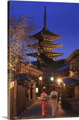 Japan, Kyoto, Historic Higashiyama district, To-ji Pagoda