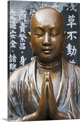 Japan, Tokyo, Asakusa, Asakusa Kannon Temple, Preying Buddha Statue
