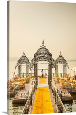 Jetty For The Boat To The Taj Lake Palace, Lake Pichola, Udaipur, Rajasthan, India
