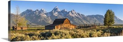 John Moulton historic barn, Mormon Row, Grand Teton National Park, Wyoming