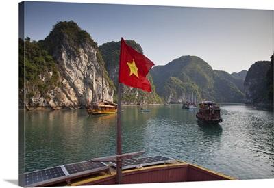 Junk boat on Halong Bay, Vietnam