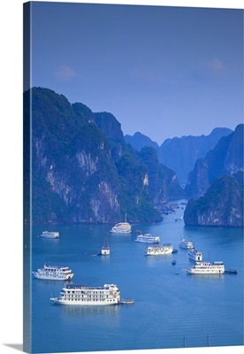 Landscape view over Halong Bay, Vietnam