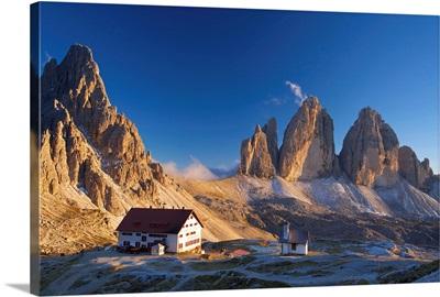 Le Tre Cime di Laveredo, Dolomites, Trentino, South Tyrol, Italy