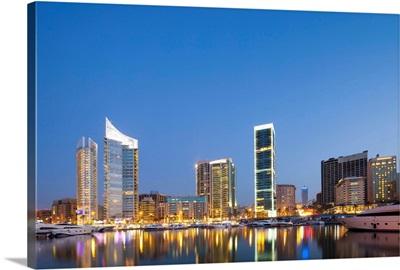 Lebanon, Beirut, The Beirut skyline from Zaitunay Bay