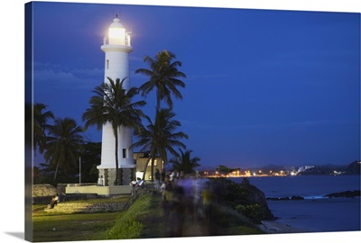 Lighthouse in the Fort at dusk, Galle, Southern Province, Sri Lanka