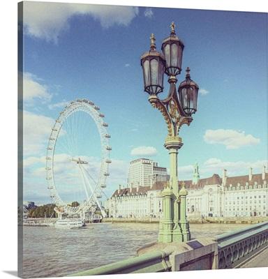 London Eye & County Hall, London, England, UK