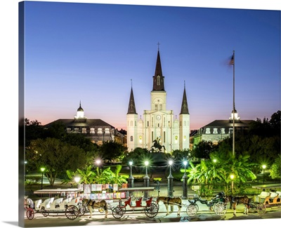Louisiana, New Orleans, French Quarter. Jackson Square and St. Louis Cathedral
