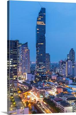 Mahanakhon Tower (By Ole Scheeren), Silom, Bangkok, Thailand