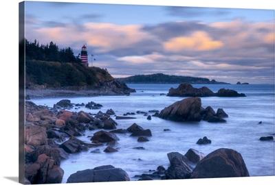 Maine, Lubec, West Quoddy Lighthouse