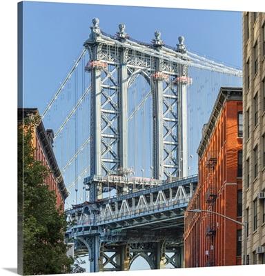 Manhattan Bridge, View To Empire State Building, Dumbo, Brooklyn, New York City, USA
