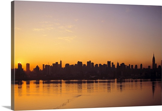 Unique New York Skyline Wall Art Gift - Wall Art Collections ...