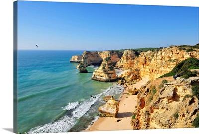 Marinha beach cliffs, Algarve, Portugal