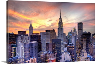 Midtown skyline with Chrysler Building and Empire State Building, Manhattan, New York