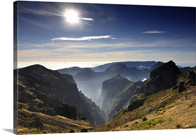 Misty mountains of Madeira, Portugal