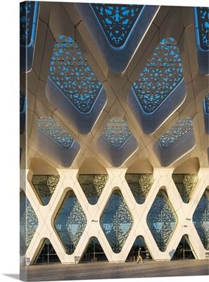Modern architecture terminal building at Marrakesh Menara Airport