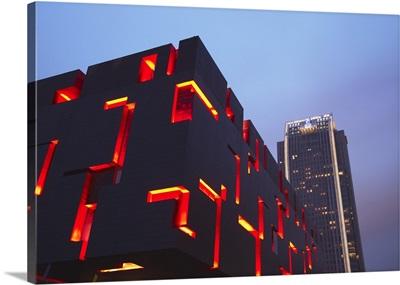 Modern architecture with Ritz-Carlton hotel, Guangzhou, Guangdong Province, China