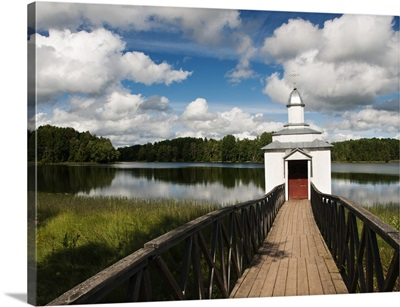 Monastic bath on Pogostskoye Lake, Pokrovo-Tervenichesky Monastery, Russia