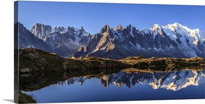 Mont Blanc mountain range, Haute Savoie France