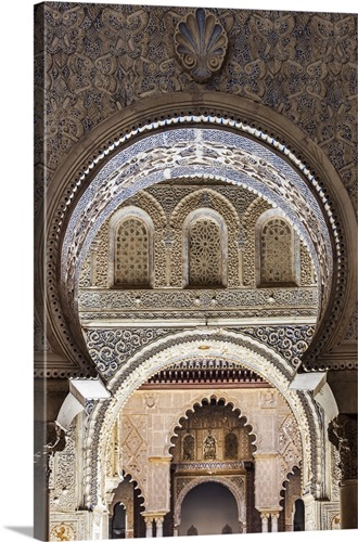 moorish architecture inside the alcazar seville andalusia spain