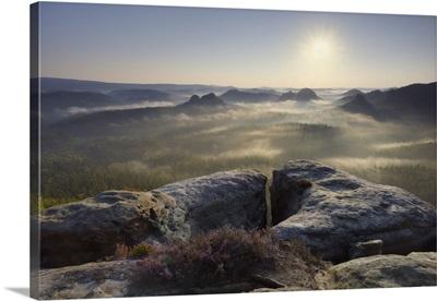 Morning Atmosphere, Elbe Sandstone Mountains, Saxon Switzerland National Park, Germany