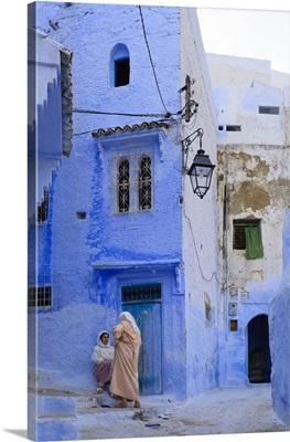 Morocco, Rif Mountains, Chefchaouen, Medina