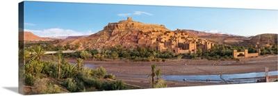 Morocco, Sous-Massa, Ouarzazate Province. Ksar of Ait Ben Haddou at sunrise