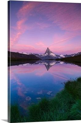 Mount Matterhorn, Stellisee, Zermatt, Switzerland