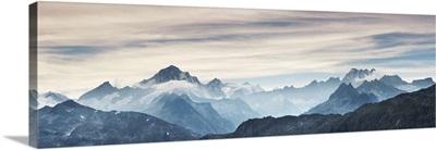 Mountain Impression Finsteraarhorn, Lauteraarhorn And Schreckhorn, Switzerland