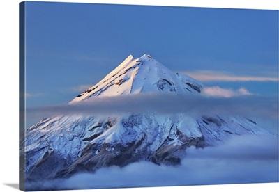 Mountain Impression Taranaki, New Zealand, North Island, New Plymouth, Lake Mangamahoe