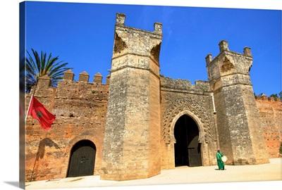 Musician Outside Bab Zaer, The Main Gate, Chellah, Rabat, Morocco, North Africa