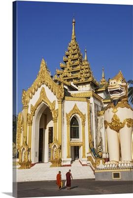 Myanmar (Burma), Yangon, Entrance to the Shwedagon Pagoda