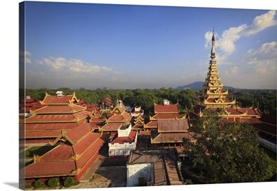 Myanmar, Mandalay, Mandalay Palace