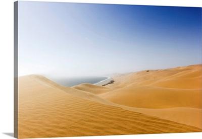 Namib desert meets the ocean, Sandwich Harbour, Swakopmund, Namibia, Africa