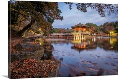 Nara, Ukimido gazebo, Japan