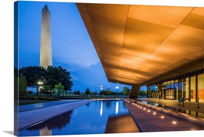 National African-American Museum exterior and Washington Monument