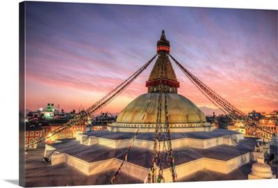 Nepal, Kathmandu, Bodhnath (Boudha) Stupa