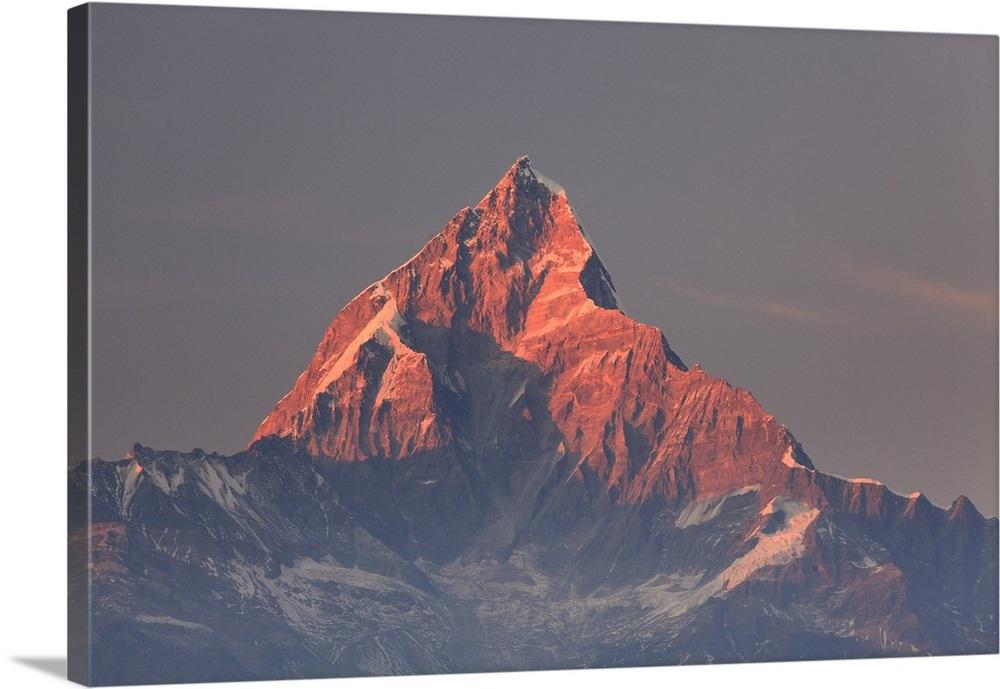 Nepal, Pokhara, Sarangkot, View of Annapurna Himalaya Mountain Range