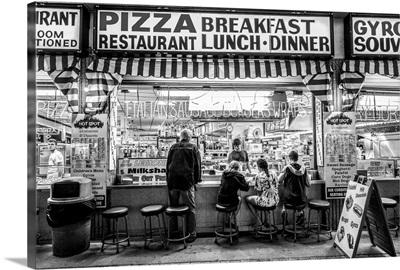 New Jersey, The Jersey Shore, Wildwoods, Wildwoods Beach Boardwalk, Pizza shop