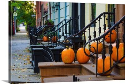New York, Brooklyn, Brooklyn Heights, Halloween Pumpkins