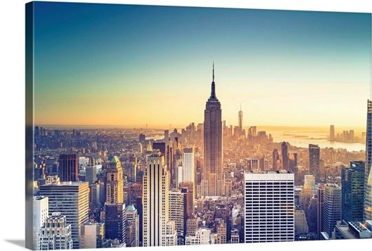 New York City, Empire State Building and Midtown Manhattan Skyline ...