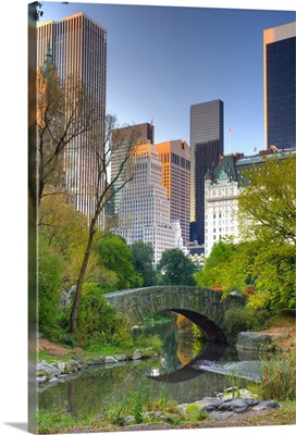 New York, Manhattan, Central Park, The Pond